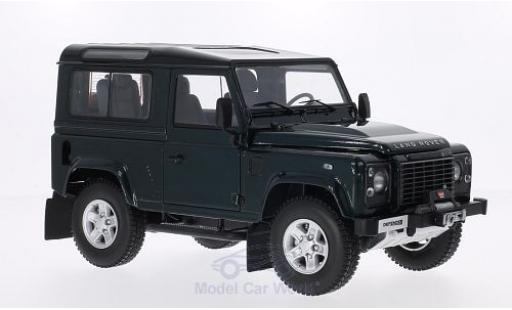 Land Rover Defender 1/18 Kyosho 90 green diecast model cars