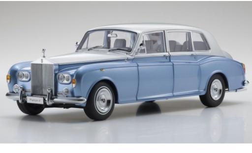 Rolls Royce Phantom 1/18 Kyosho VI métallisé bleue/grise RHD miniature