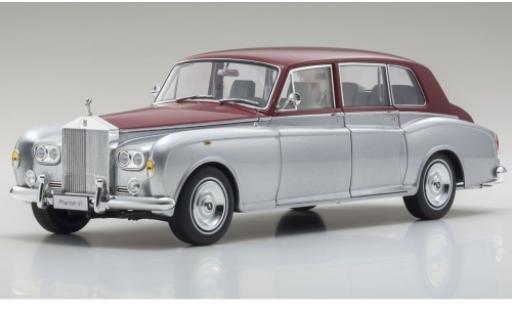 Rolls Royce Phantom 1/18 Kyosho VI grigio/rosso RHD modellino in miniatura