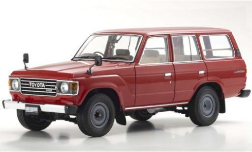 Toyota Land Cruiser 1/18 Kyosho 60 red RHD diecast model cars