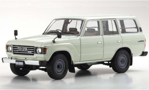 Toyota Land Cruiser 1/18 Kyosho 60 white RHD diecast model cars
