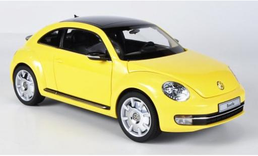Volkswagen Beetle 1/18 Kyosho Coupe yellow diecast model cars