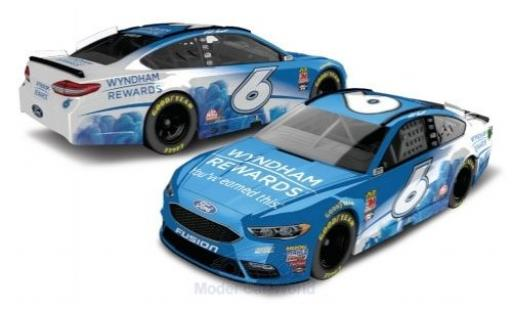 Ford Fusion 1/64 Lionel Racing No.6 Roush Fenway Racing Wyndham Rewards Nascar 2018 M.Kenseth miniature