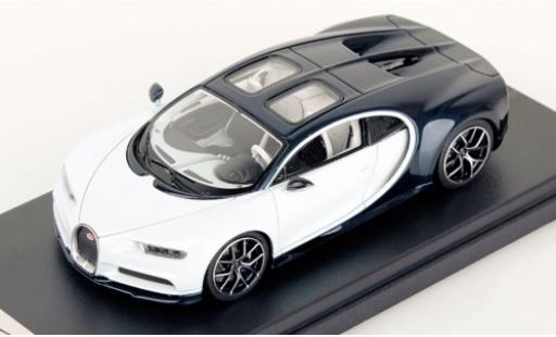Bugatti Chiron 1/43 Look Smart Sky View blanche/metallise bleue 2018 miniature