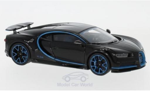 Bugatti Chiron 1/43 Look Smart Zero-400-Zero blue/blue mit ausgefahrenem Heckspoiler diecast model cars