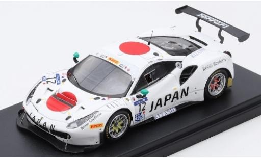 Ferrari 488 1/43 Look Smart GT3 No.12 AF Corse Team Japan FIA GT Nations Cup Bahrain 2018 K.Seto/T.Kondo diecast model cars