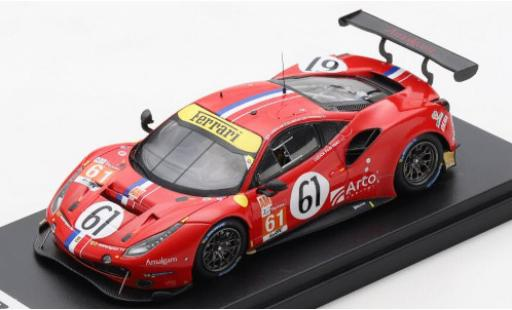 Ferrari 488 1/43 Look Smart GTE EVO No.61 Luzich Racing 24h Le Mans 2020 C.Ledogar/O.Negri Jr./F.Piovanetti diecast model cars