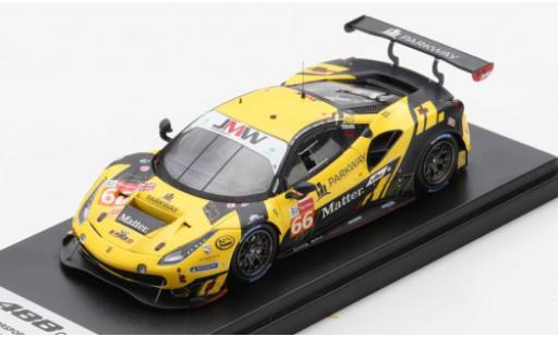 Ferrari 488 1/43 Look Smart GTE EVO No.66 JMW Motorsport 24h Le Mans 2020 R.Heistand/J.Magnussen/M.Root miniature