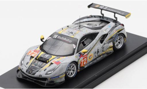 Ferrari 488 1/43 Look Smart GTE EVO No.72 Hub Auto Racing 24h Le Mans 2020 T.Blomqvist/M.Chen/M.Gomes diecast model cars