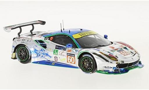 Ferrari 488 1/43 Look Smart GTE No.60 Clearwater Racing 24h Le Mans 2017 R.Wee/H.Kato/A.Parente diecast model cars