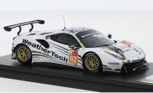 Ferrari 488 1/43 Look Smart GTE No.62 WeatherTech Racing WeatherTech 24h Le Mans 2019 C.MacNeil/R.Smith/T.Vilander diecast model cars