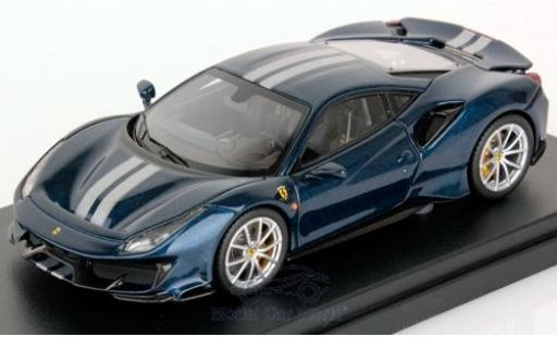 Ferrari 488 1/43 Look Smart Pista bleue miniature