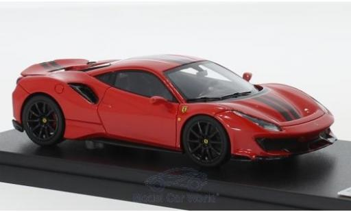 Ferrari 488 1/43 Look Smart Pista red/black 2018 diecast model cars