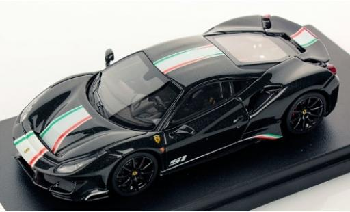Ferrari 488 1/43 Look Smart Pista Piloti noire/Dekor miniature