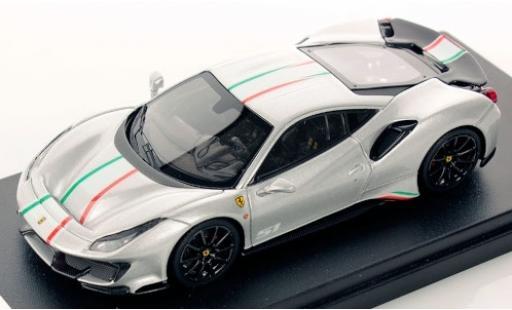 Ferrari 488 1/43 Look Smart Pista Piloti silber/Dekor modellautos