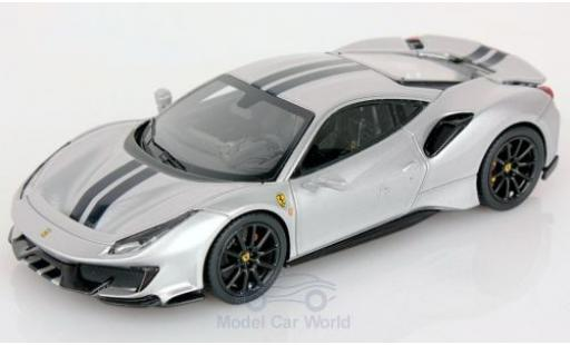 Ferrari 488 1/43 Look Smart Pista grey/black 2018 diecast