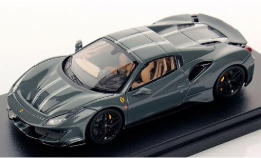 Ferrari 488 1/43 Look Smart Pista Spider Hardtop grey/grey 2018 diecast model cars