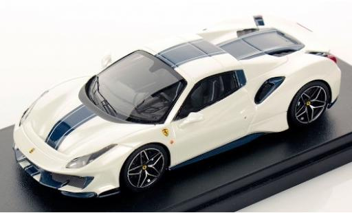 Ferrari 488 1/43 Look Smart Pista Spider Hardtop metallise weiss/blau 2018 Monterrey Car Week modellautos