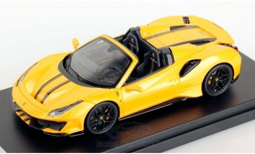 Ferrari 488 1/43 Look Smart Pista Spider metallise yellow/black 2018 diecast model cars