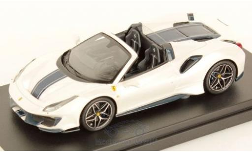 Ferrari 488 1/43 Look Smart Pista Spider metallise white/black 2018 diecast model cars