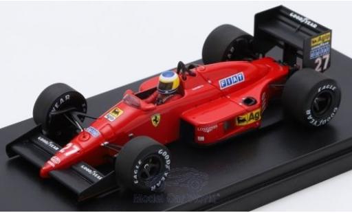 Ferrari F1 1/43 Look Smart /87 No.27 Scuderia Formel 1 GP Monaco 1987 M.Alboreto modellino in miniatura