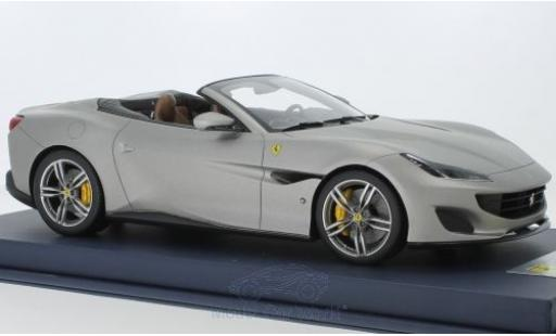 Ferrari Portofino 1/18 Look Smart matt-grise 2018 miniature