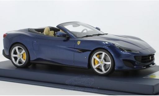 Ferrari Portofino 1/18 Look Smart métallisé bleue 2018 miniature