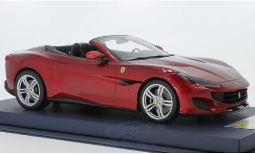 Ferrari Portofino 1/18 Look Smart metallise red 2018 diecast model cars