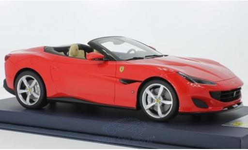 Ferrari Portofino 1/18 Look Smart red 2018 Interieur beige diecast model cars