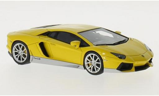 Lamborghini Aventador 1/43 Look Smart LP700-4 Miura Homage yellow/grey diecast model cars
