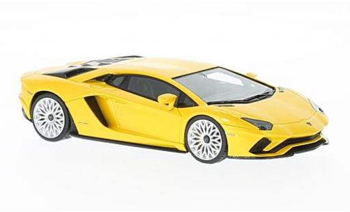 Lamborghini Aventador 1/43 Look Smart S metallise yellow diecast model cars