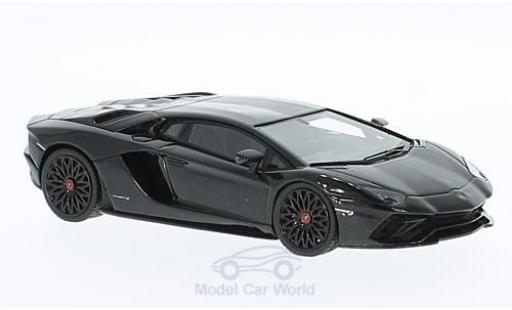 Lamborghini Aventador 1/43 Look Smart S metallise noire miniature