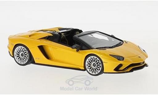 Lamborghini Aventador Roadster 1/43 Look Smart S metallise yellow diecast model cars