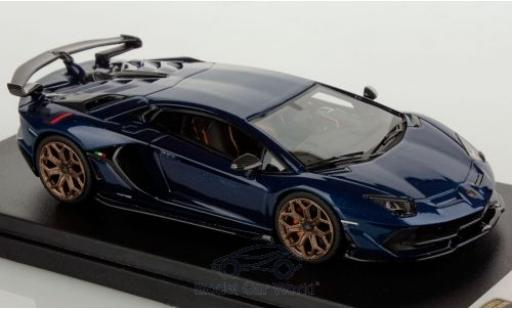 Lamborghini Aventador 1/43 Look Smart SVJ bleue miniature