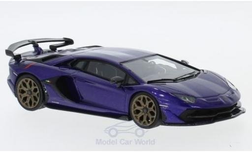 Lamborghini Aventador 1/43 Look Smart SVJ metallise violette miniature