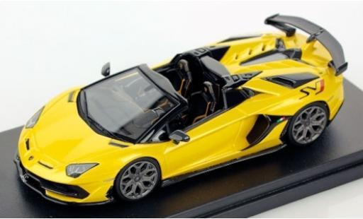 Lamborghini Aventador 1/43 Look Smart SVJ Roadster jaune miniature