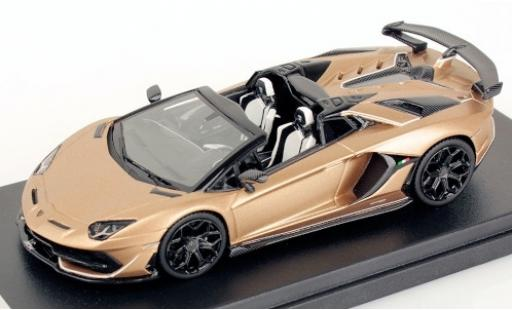 Lamborghini Aventador 1/43 Look Smart SVJ Roadster matt-bronze 2019 miniature