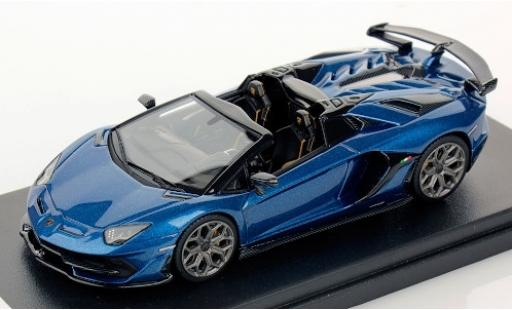 Lamborghini Aventador 1/43 Look Smart SVJ Roadster metallise blue 2019 diecast model cars