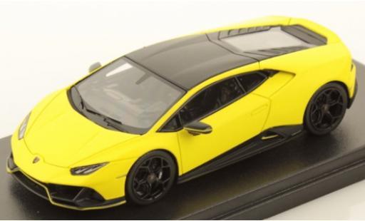 Lamborghini Huracan 1/43 Look Smart Evo Fluo Capsule matt-jaune/matt-noire miniature