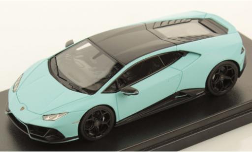 Lamborghini Huracan 1/43 Look Smart Evo Fluo Capsule matt-bleue/matt-noire miniature