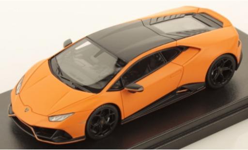 Lamborghini Huracan 1/43 Look Smart Evo Fluo Capsule matt-orange/matt-noire miniature