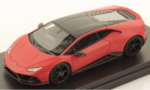 Lamborghini Huracan 1/43 Look Smart Evo Fluo Capsule matt-rouge/matt-noire miniature