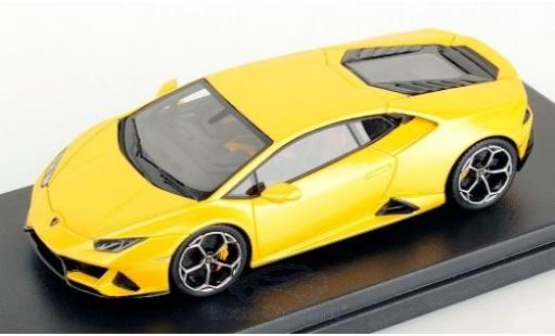 Lamborghini Huracan 1/43 Look Smart Evo metallise yellow 2019 diecast model cars