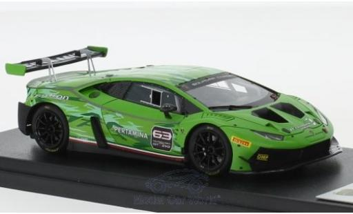 Lamborghini Huracan 1/43 Look Smart GT3 Evo matt-green 2018 diecast model cars