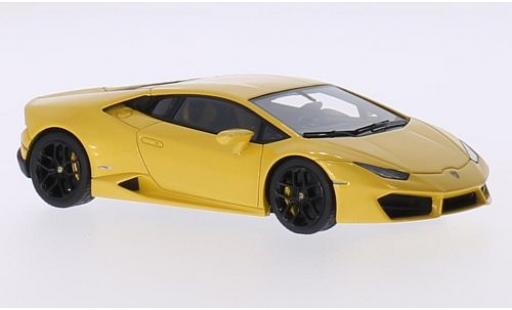 Lamborghini Huracan 1/43 Look Smart LP 580-2 metallise yellow 2015 diecast model cars