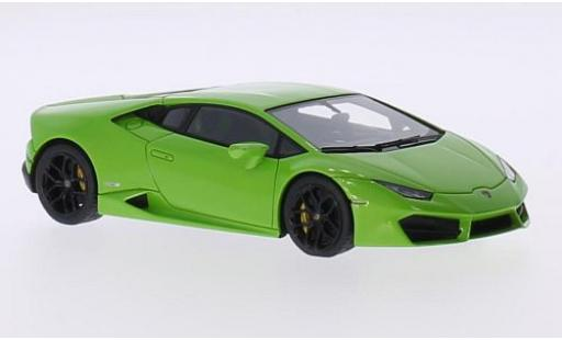 Lamborghini Huracan 1/43 Look Smart LP 580-2 metallise green 2015 Los Angeles Motorshow diecast model cars