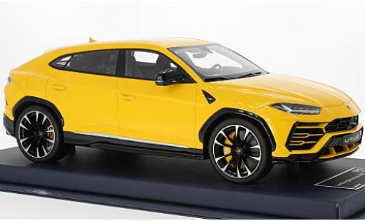 Lamborghini Urus 1/18 Look Smart jaune 2017 miniature