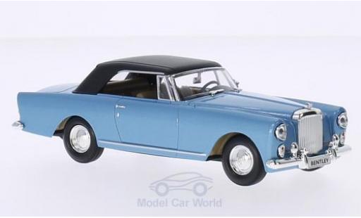 Bentley Continental T 1/43 Lucky Die Cast S2 DHC by Vilhelm Koren metallise bleue 1961 Verdeck geschlossen miniature