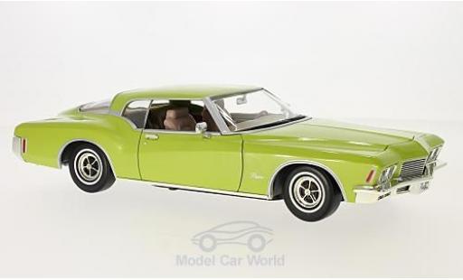 Buick Riviera 1971 1/18 Lucky Die Cast GS metallise verte miniature