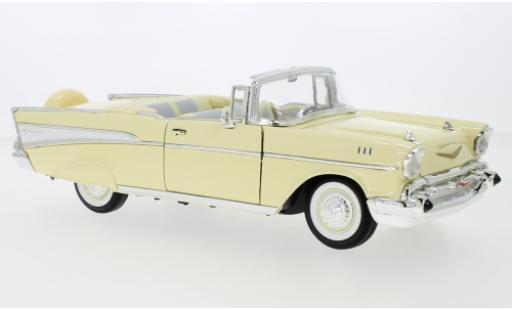 Chevrolet Bel Air 1/18 Lucky Die Cast Convertible giallo/bianco 1957 modellino in miniatura